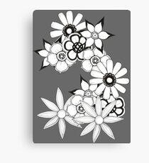 Ink flower patter  Canvas Print