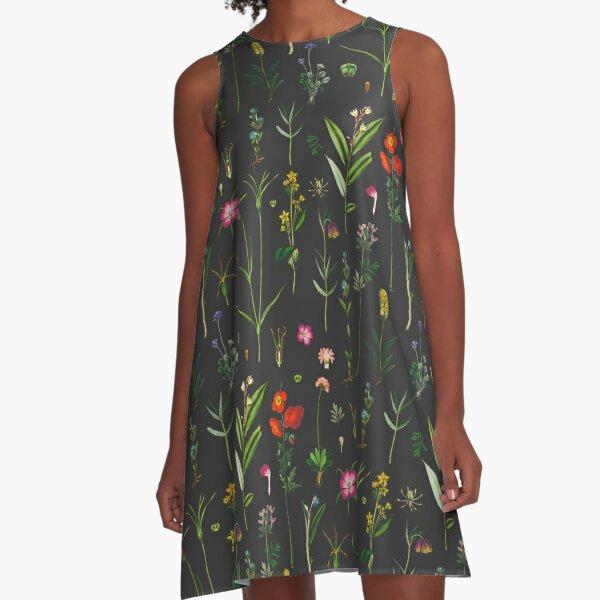 Vintage Botanicals A-Line Dress