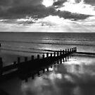 Stormy over Wales in B&W by AnnDixon