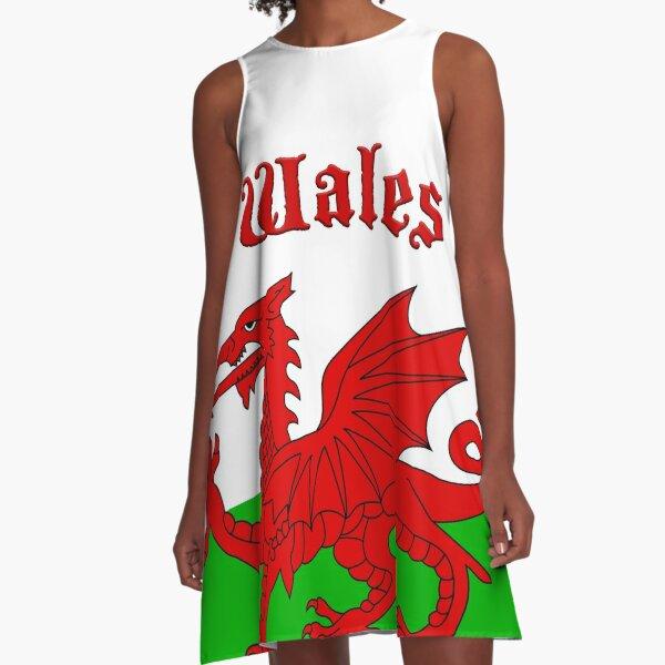 Wales Flag - Cymru Baner - High Quality Image A-Line Dress