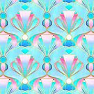«Brillante pastel Art Deco Pattern» de micklyn