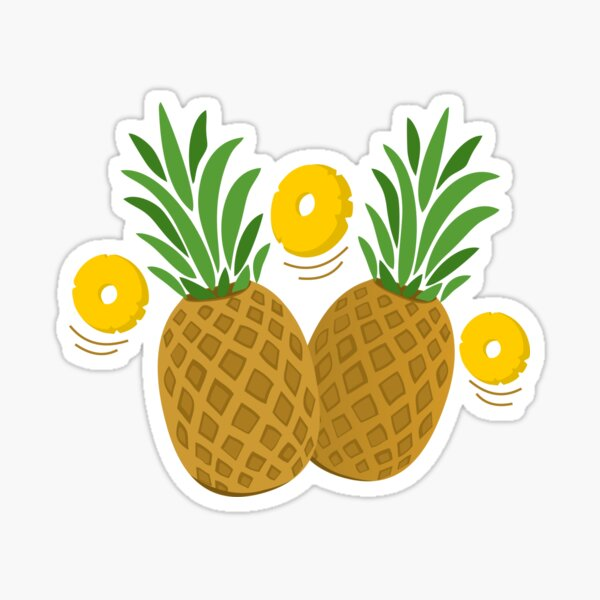Fun and Funky Pineapples Sticker