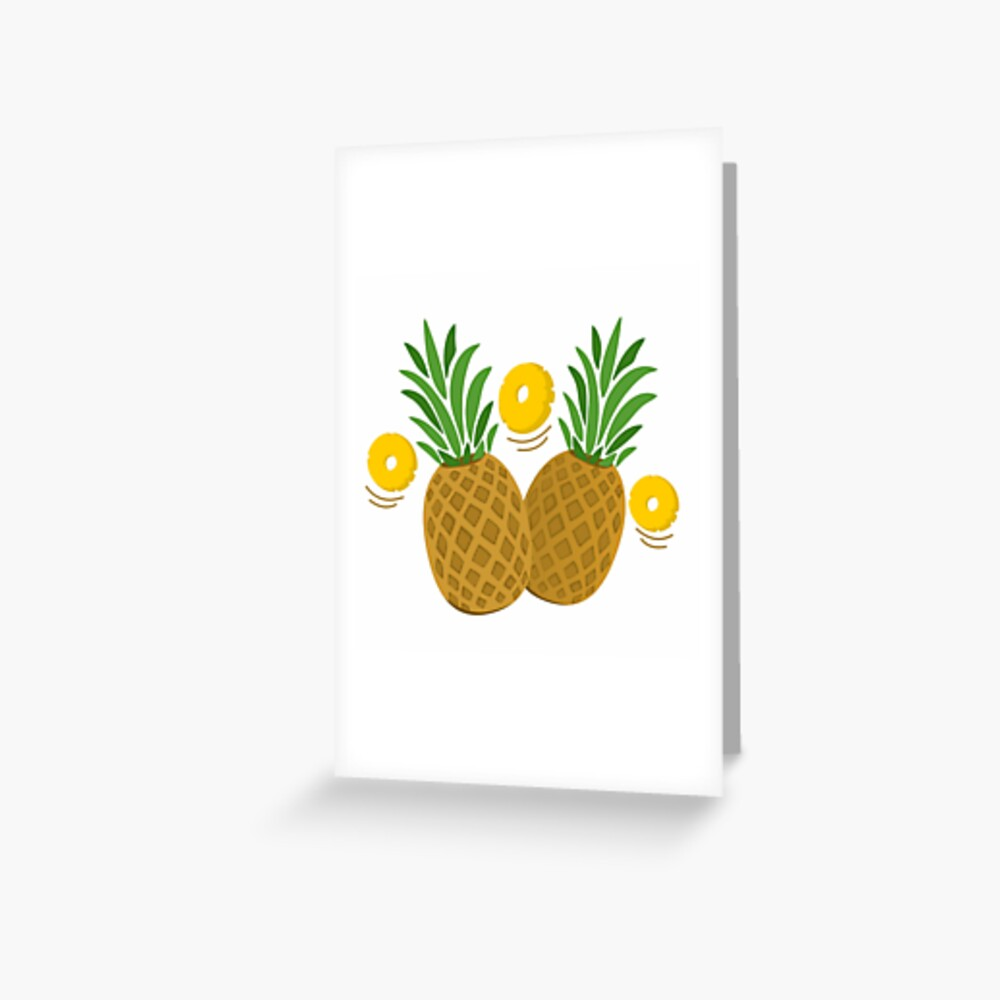 Fun and Funky Pineapples Greeting Card