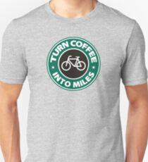 Turn Coffee Into Miles Unisex T-Shirt