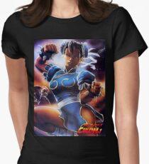 Chun-Li Street Fighter 2 Fan print Women's Fitted T-Shirt