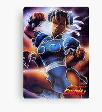 Chun-Li Street Fighter 2 Fan print Canvas Print