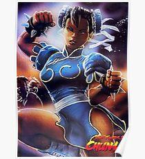 Chun-Li Street Fighter 2 Fan print Poster