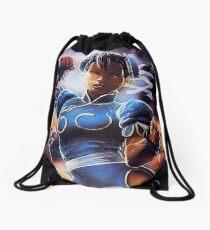 Chun-Li Street Fighter 2 Fan print Drawstring Bag