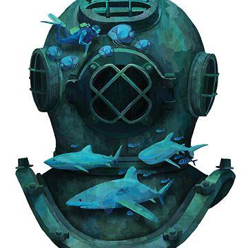 Scuba Diver T-Shirt by lifeisthat