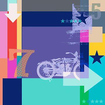 Pop art motorcycle by Carolynne