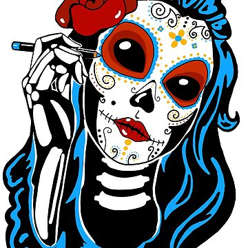Skull woman days of the days by fabien-p