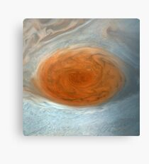 Jupiter, Great Red Spot - Reprojected Canvas Print