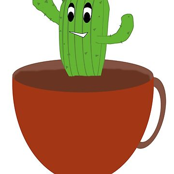 Happy Cactus in a Cup by BasicDesignsDK