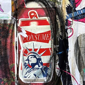 Consume Statue of Liberty Graffiti New York City by BAR-ART