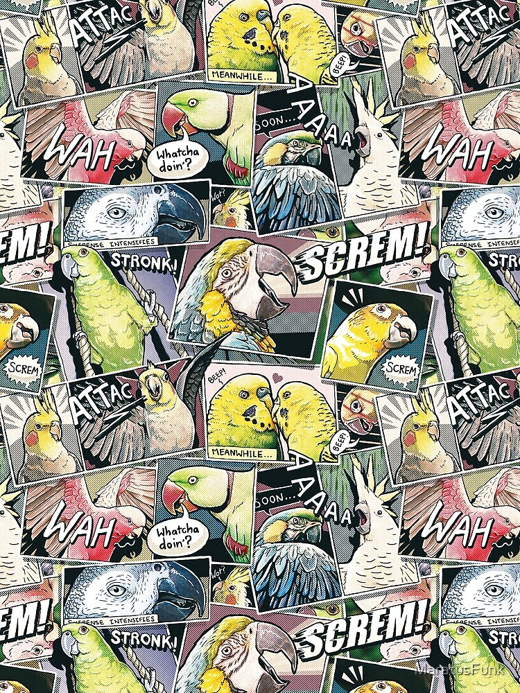 Parrots Comic Style by MaratusFunk
