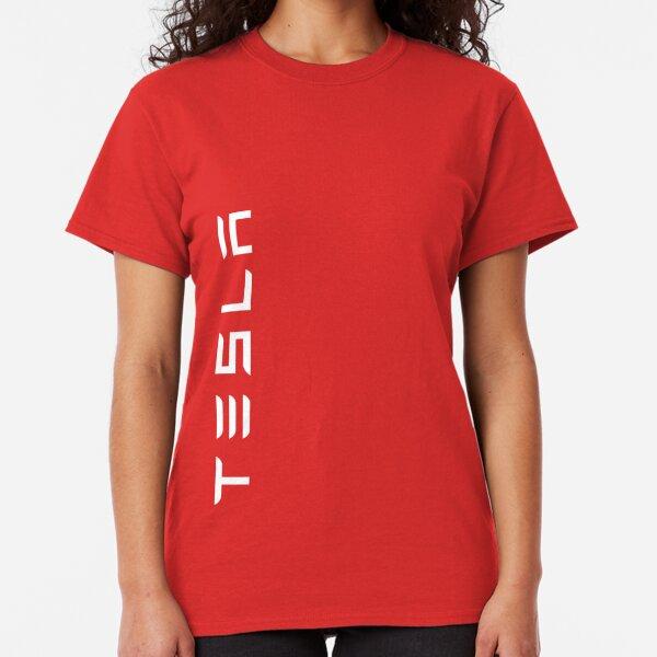 TESLA VERTICAL - White Name Classic T-Shirt