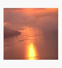 Pale Pink Sea Photographic Print