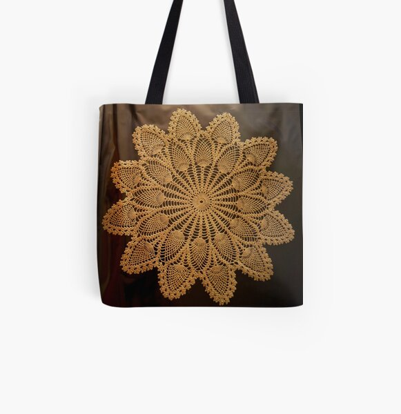 Gloves and Doily All Over Print Tote Bag