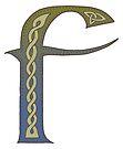 Celtic Knotwork Alphabet - Letter F by Carrie Dennison