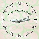 I Love Planes - KC135A Stratotanker clock with roman numerals by ipgphotography