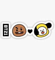 Pegatina BTS BT21 SHOOKY X CHIMMY (Suga x Jimin)