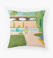 Poolside in Palm Springs Dekokissen
