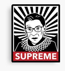 Supreme Justice Ruth Bader Ginsburg Canvas Print