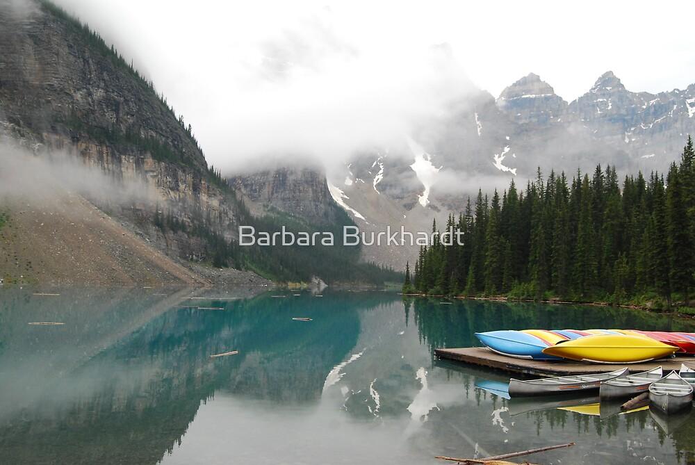 Still Early - Moraine Lake Canada by Barbara Burkhardt