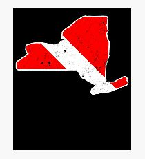 New York Scuba Dive Flag Diver Down Flag Shirt Photographic Print