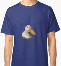 Close Up Portrait of A Cute Domestic White Duck Vector Style Classic T-Shirt