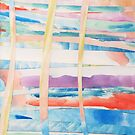 Woven Watercolor Colorful Abstract Painting by Express Yourself Artshop