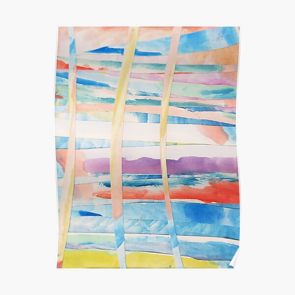 Woven Watercolor Colorful Abstract Painting Poster