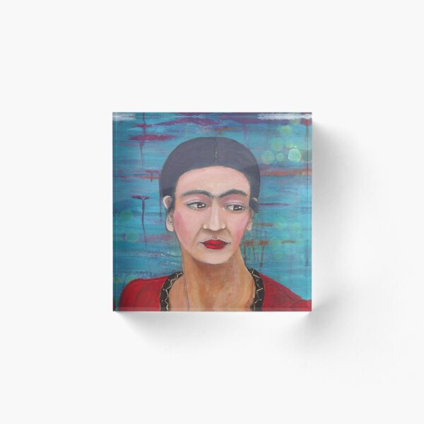 Still She Smiled Acrylic Block
