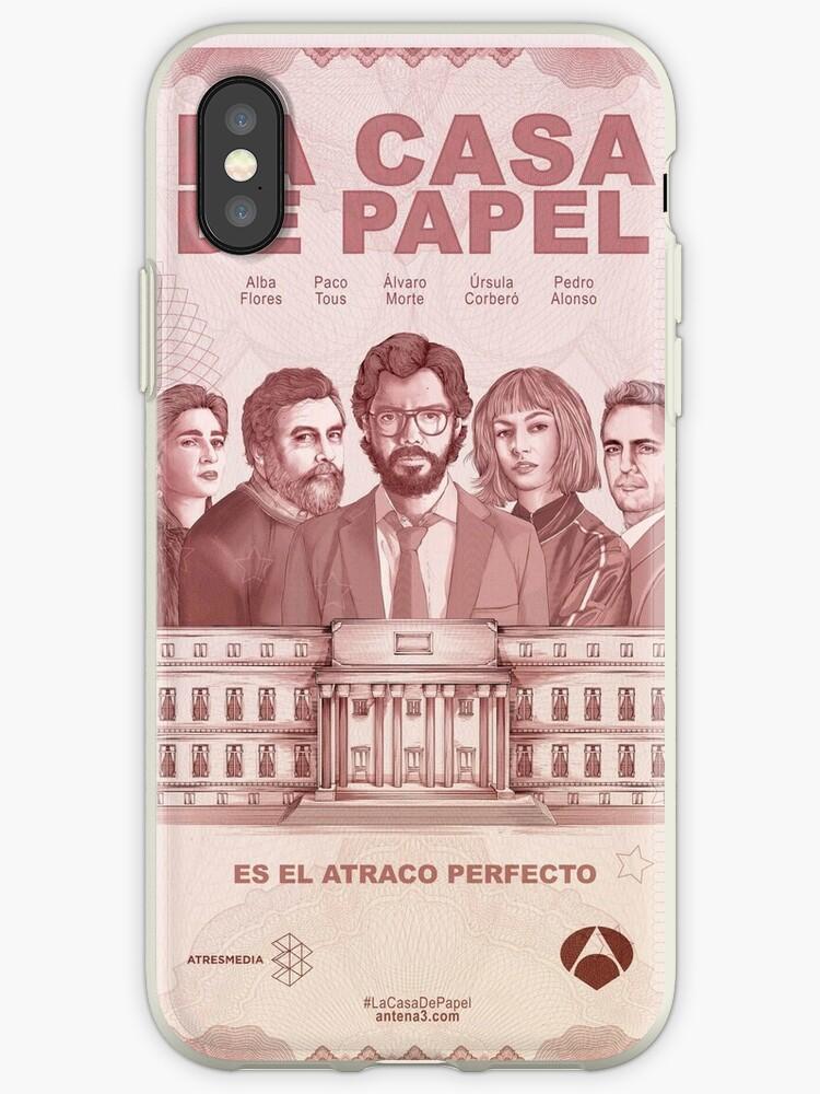 coque iphone xs la casa de papel