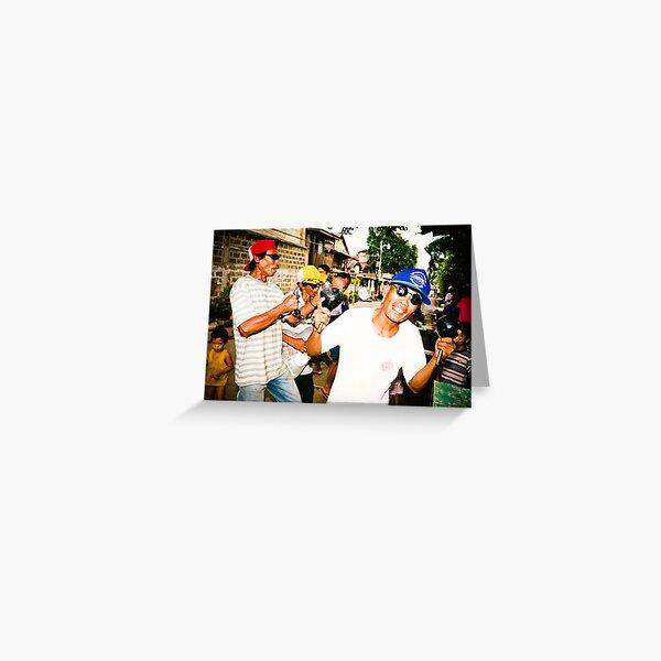 """Christmas Caroling!"" Barangay Lorega, Cebu City, Philippines Greeting Card"