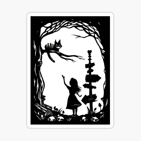 Alice au Pays des Merveilles Sticker