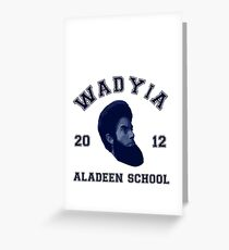 Wadyia Aladeen School of Aladeen | Funny Design For Men And Women Greeting Card