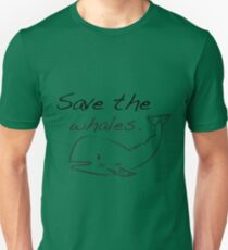 Save the whales. T-Shirt