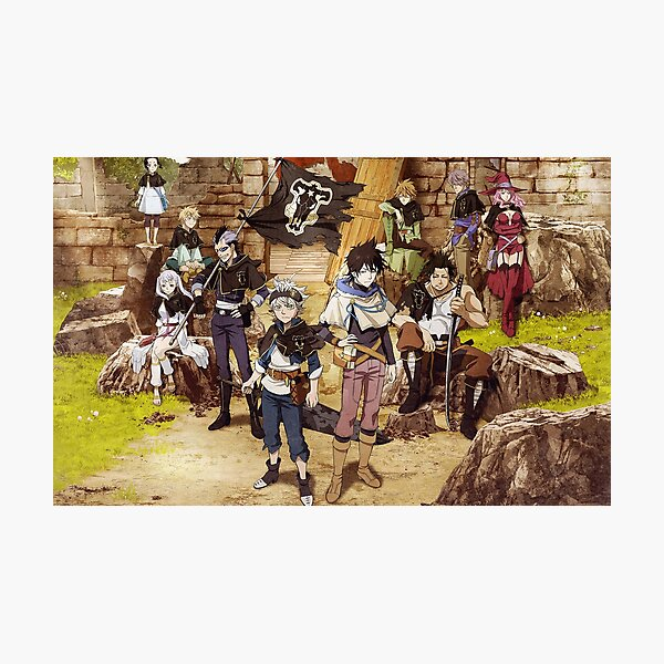 Black Clover Bulls Photographic Print