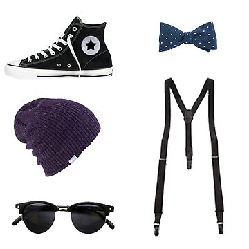 Tomboy Style - Glasses, hat, suspenders, bowtie, shoes by tziggles