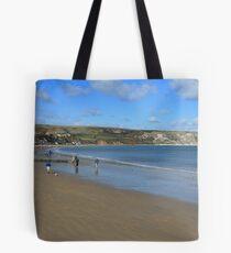 Swanage Beach & Ballard Down Tote Bag