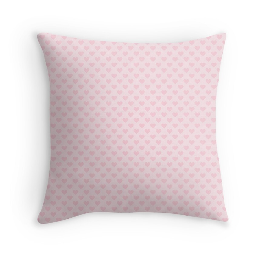 Large Light Soft Pastel Pink Love Hearts