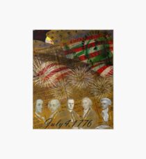 4th of July Celebration Art Board Print