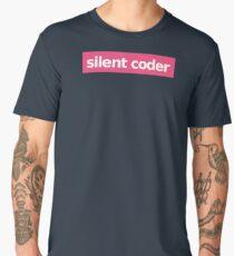 Silent Coder - Pink Men's Premium T-Shirt