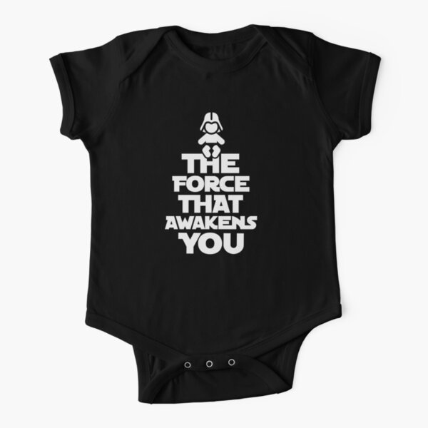 The force that awakens you Short Sleeve Baby One-Piece