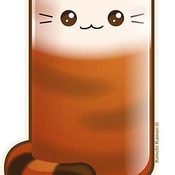 Purrista Pawfee: Cute Thai Iced Tea Cat by kimchikawaii