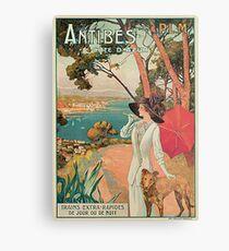 Vintage Antibes French Riviera Cote d'Azur ad Metal Print