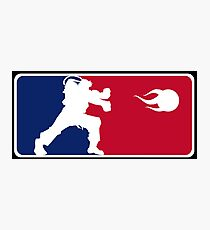 league team street fighter ryu hadouken game fight Photographic Print