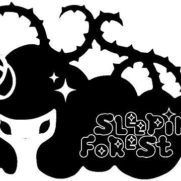 Air Gear Sleeping Forest Stiker B & W by Sci-mpli