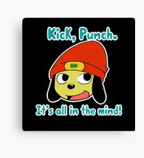 Parappa the rapper Kick Punch, It's all in the mind! Canvas Print